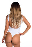 THE MYSTYLEMODE WHITE TANK LOW BACK ESSENTIAL BODYSUIT