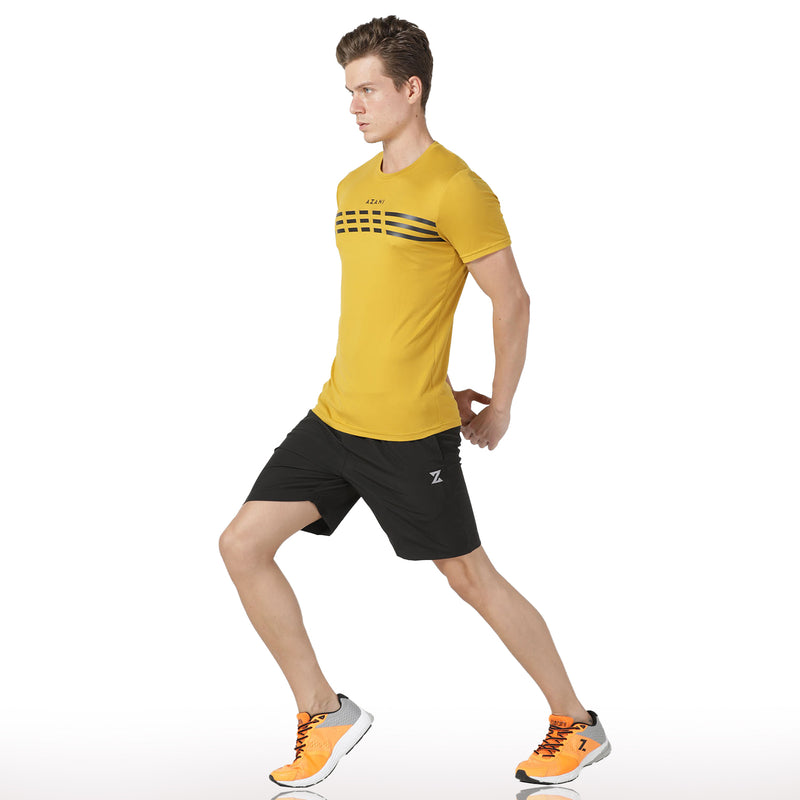 Azani Men's Active Stretch T-Shirt - Yellow
