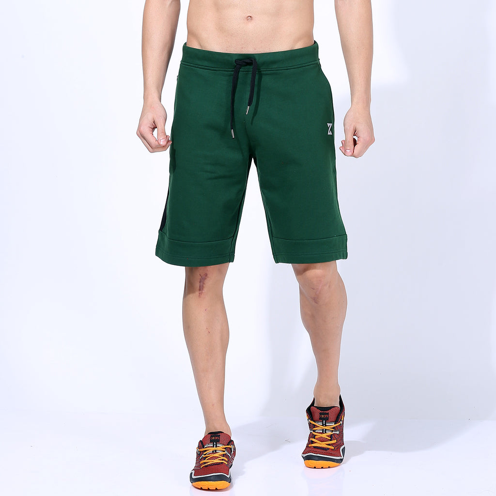Azani Therma Flex Long Shorts - Dark Green
