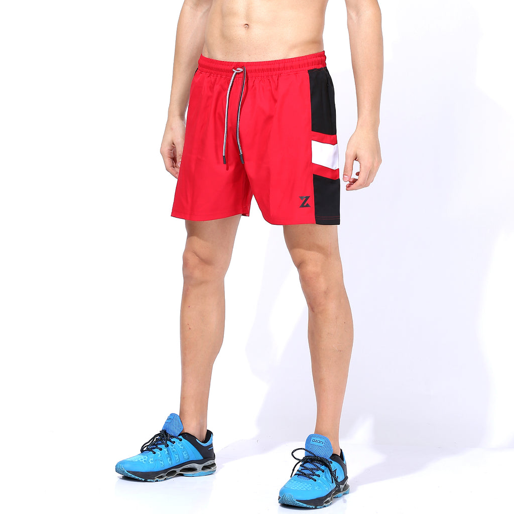 Azani Flex Panelled Shorts - Red/White/Black