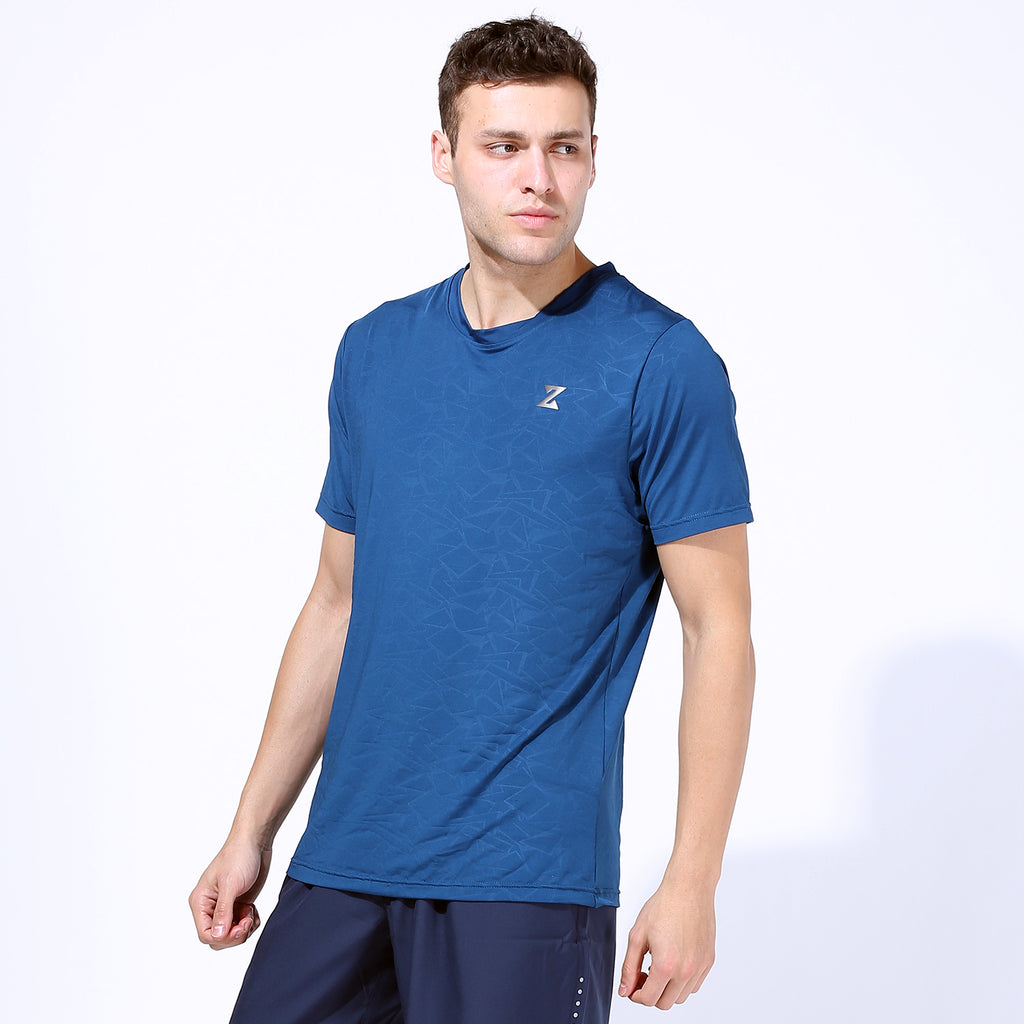 Azani Tech Knit Short Sleeve T shirts - Teal Blue