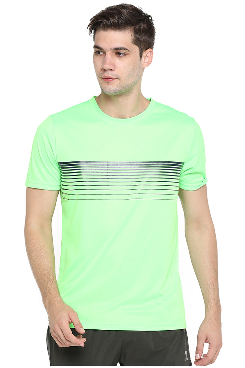 Azani Linear Half Sleeve T-Shirt - Green
