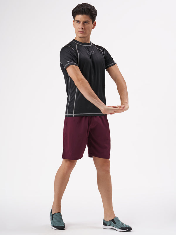 Azani Edge 9 Inch Training Shorts - Burgundy