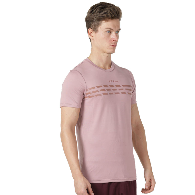 Azani Men's Active Stretch T-Shirt - Pink