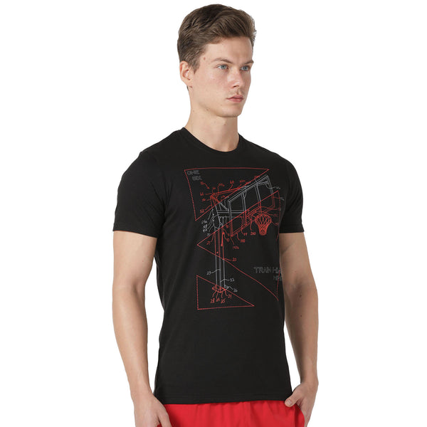 Azani Active Men's Cyber Basketball T-Shirt - Black