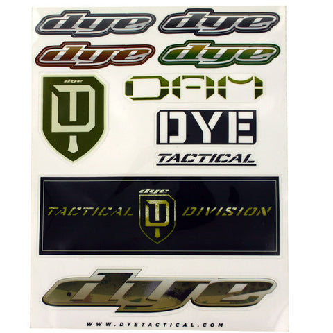 DYE Tactical Sticker Sheet