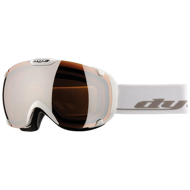 DYE Snow T1 Goggle | Solid White w/ Orange Silver