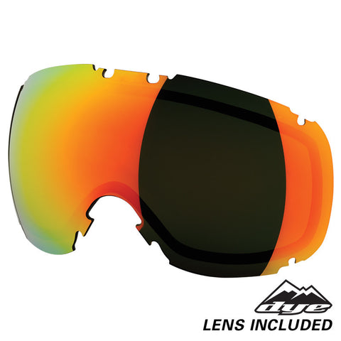 DYE Snow T1 Goggle | Solid Grey / Blue w/ Bronze Fire