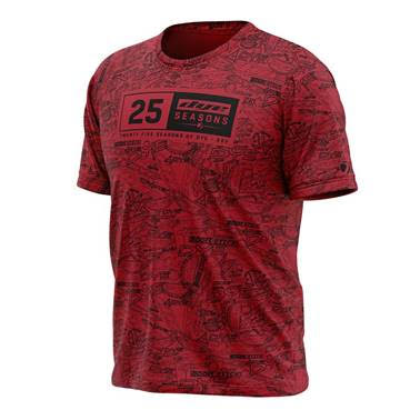 Shirt DYE-Fit 25 Seasons - Red - PRE ORDER