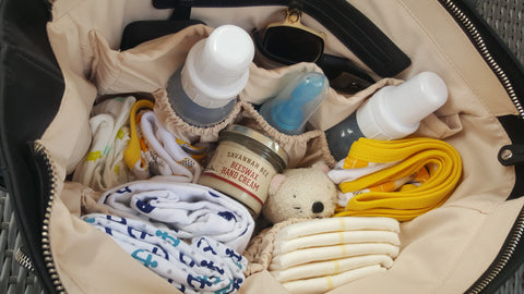 diaper bag baby bag savannah bee hand cream all natural