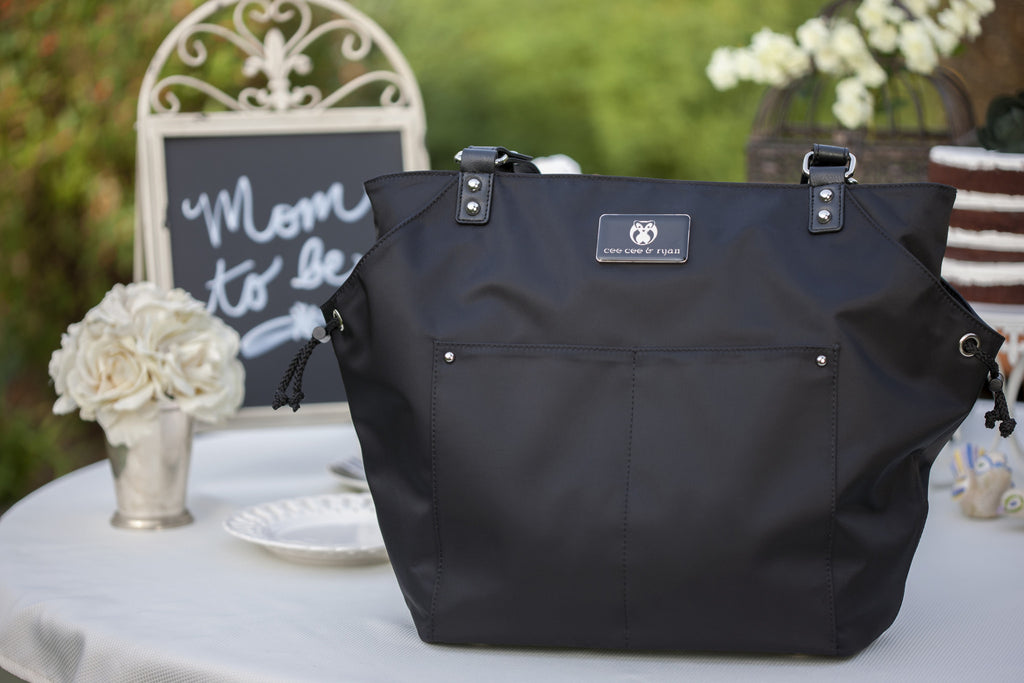 Designer Diaper Bag in Black Baby Shower Gift