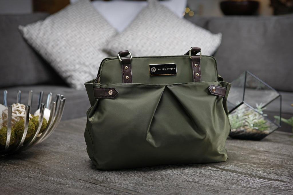 Diaper Bag in Olive - Justine Baby Bag