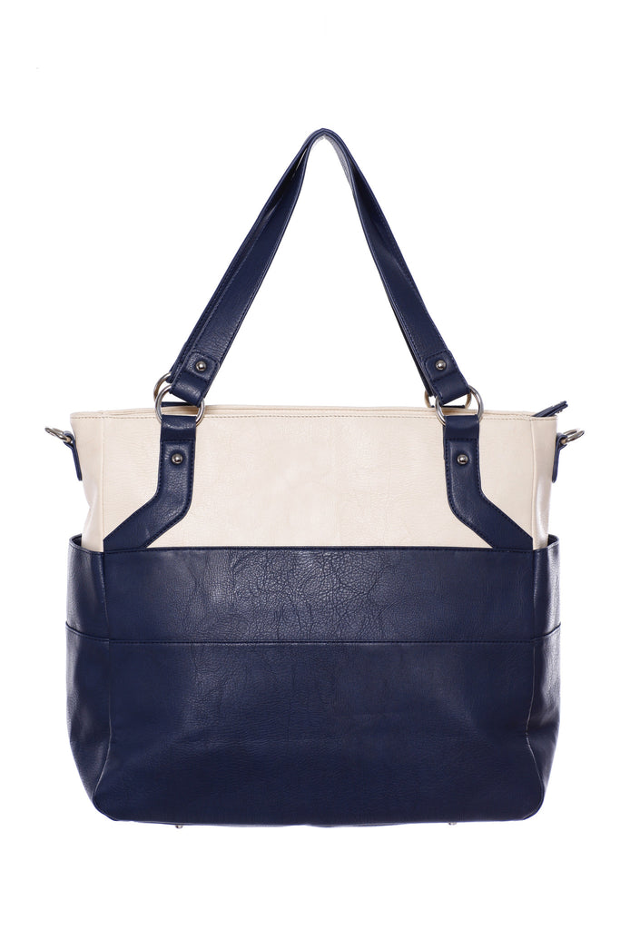Diaper Bag in Navy/Creme - Lexy Baby Bag