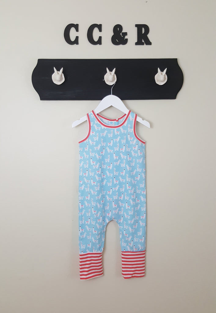 Llama Print Romper for boys or girls
