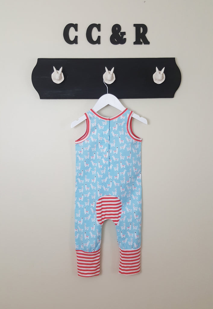 Romper with Llamas for toddlers and babies unisex