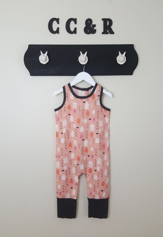 Farm print Romper for Boys or Girls Baby Toddler