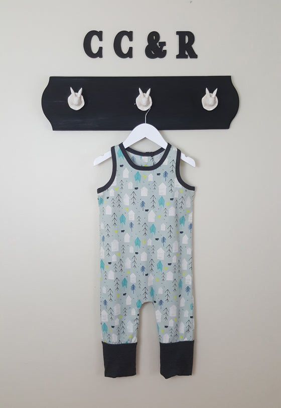 Farmer Romper for boys or girls