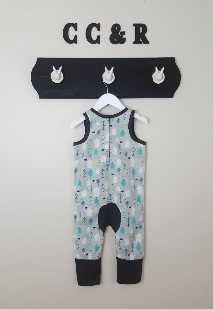Romper with cows for boys or girls