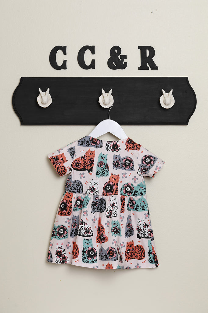 girls dress kitty cat 50's style