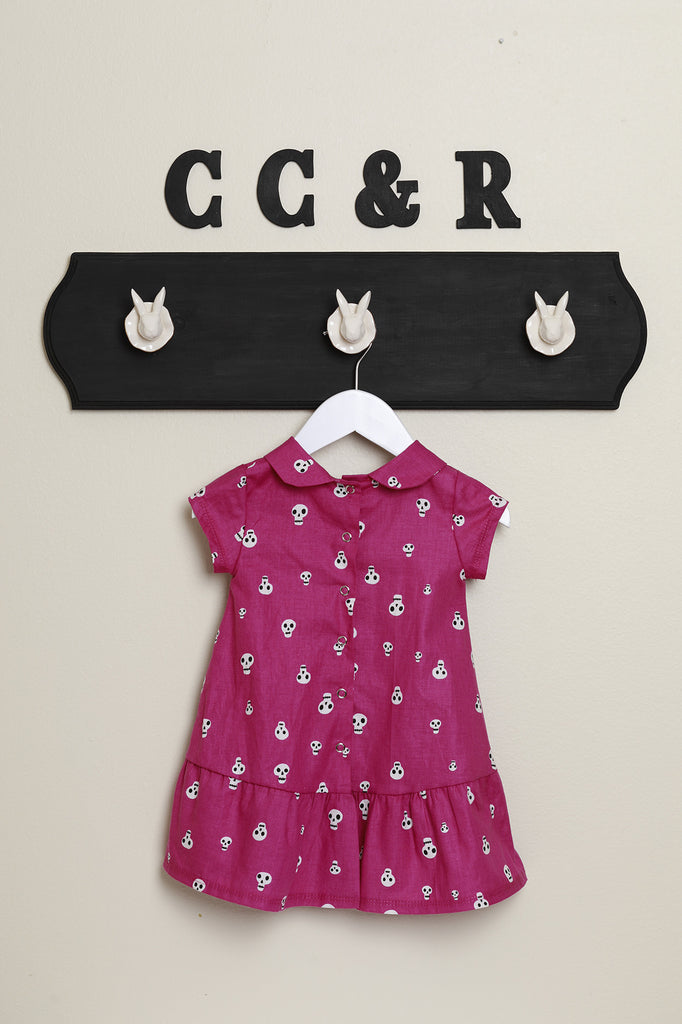 girls dress peter pan collar skull candy dia de los muertos day of the dead dress