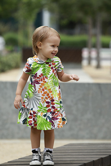 girls dress tropical paradise vacation 50's style house dress