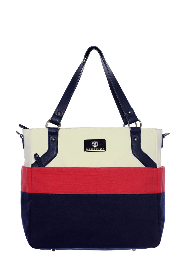 Designer Baby Diaper bag Nautical Inspired Carryall Tote