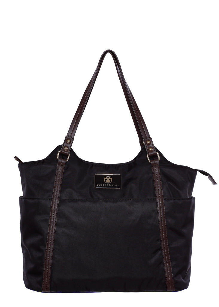 Black/brown strap Designer Baby Top selling trendy Diaper bag Carryall Tote