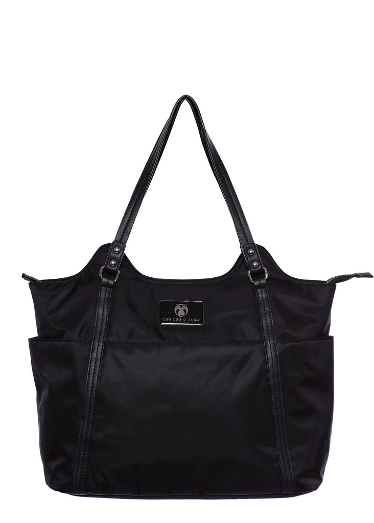 Black Designer Baby Top selling trendy Diaper bag Carryall Tote