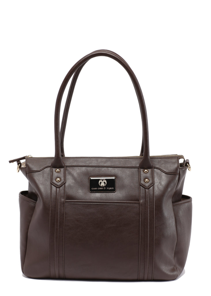 Brown Designer Baby Top selling trendy Diaper bag Carryall Tote
