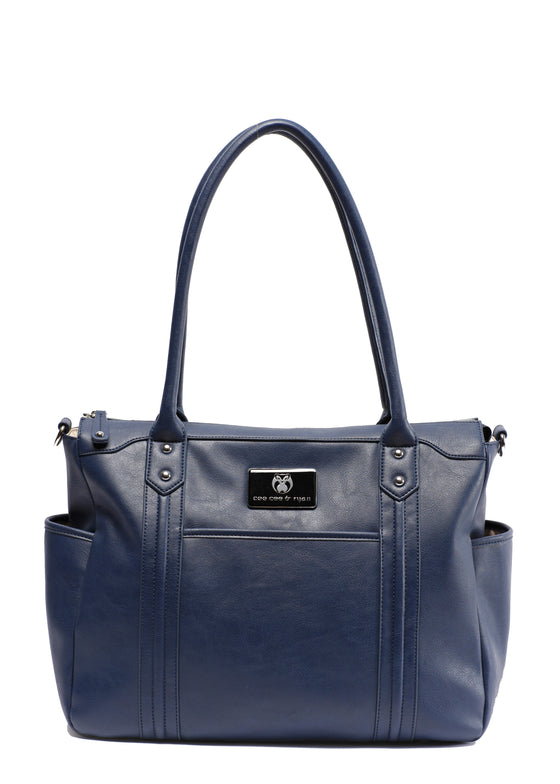 Midnight blue navy Designer Baby Top selling trendy Diaper bag Carryall Tote