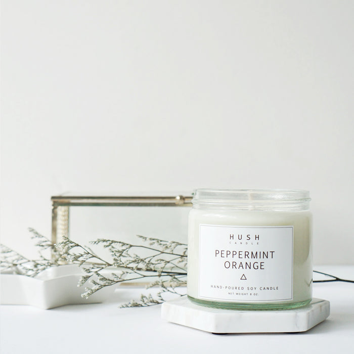 Peppermint Orange Essential Oil Candle