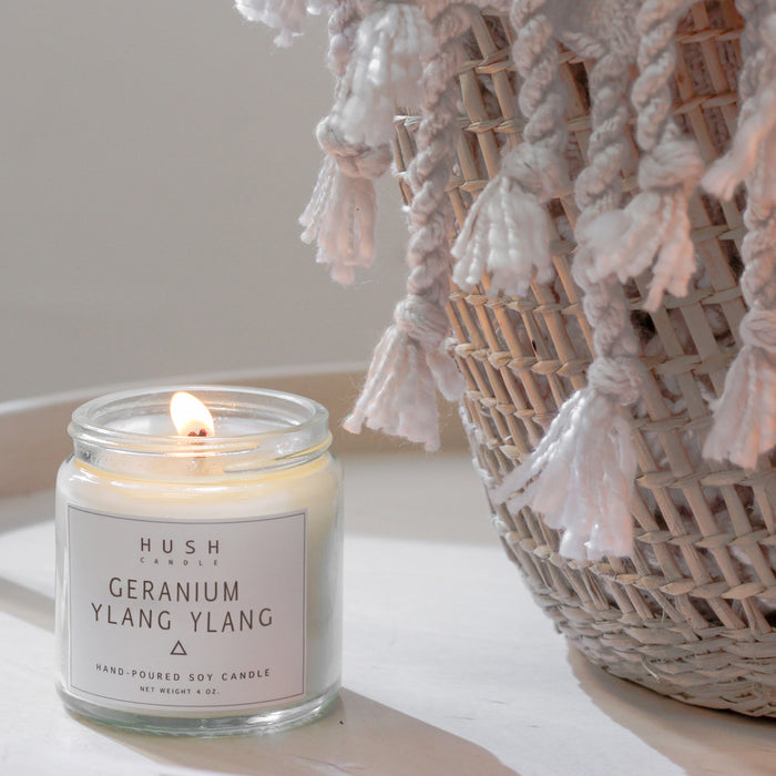 [Limited Edition] Geranium + Ylang Ylang Essential Oil Candle