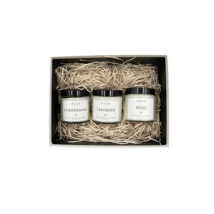 Set of Three Candles Gift Set
