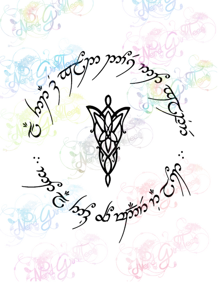 Evenstar-All That Glitters - LOTR - Digital Print, SVG, PNG, JPG Files