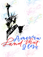 America Land That I Love - Statue of Liberty - Digital Print, SVG, PNG, JPG Files