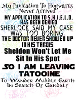 Sheldon Wont Let Me Sit In His Seat, Wander Middle Earth - Multi Fandom - Digital Print, SVG, PNG, JPG Files