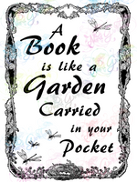 A Book Is Like A Garden - Books - Digital Print, SVG, PNG, JPG Files