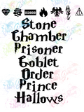 HP Book Titles and Symbols - Potter - Digital Print, SVG, PNG, JPG Files
