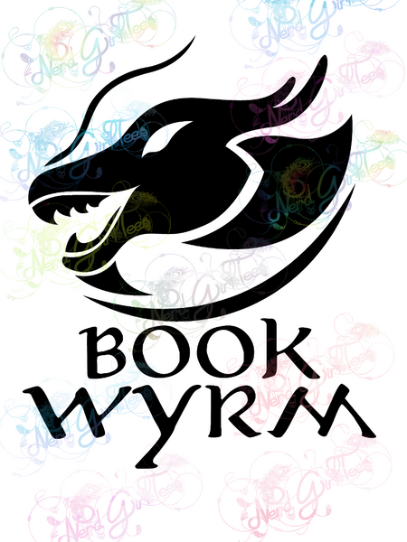 Book Wyrm - Books - Digital Print, SVG, PNG, JPG Files