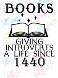 Books Giving Introverts A Life - Books - Digital Print, SVG, PNG, JPG Files