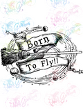 Born To Fly - Potter - Digital Print, SVG, PNG, JPG Files