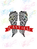 Castiel - Supernatural - Fandoms - Digital Print, SVG, PNG, JPG Files