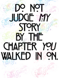 Do Not Judge My Story - Books - Digital Print, SVG, PNG, JPG Files