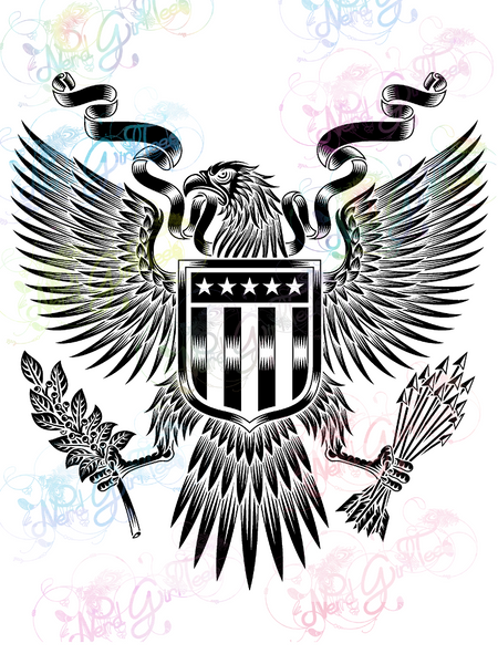 American Eagle Emblem - America - Digital Print, SVG, PNG, JPG Files