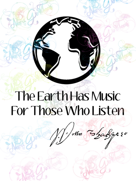 The Earth Has Music - William Shakespeare - Books - Digital Print, SVG, PNG, JPG Files