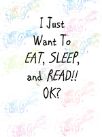 Eat, Sleep and Read, OK - Books - Digital Print, SVG, PNG, JPG Files
