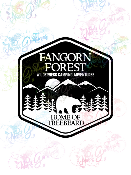 Fangorn Forest - LOTR Parody- Digital Print, SVG, PNG, JPG Files