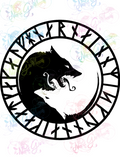 Fenrir Norse Symbol - Books - Digital Print, SVG, PNG, JPG Files