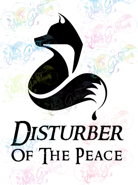 Fox - Disturber of the Peace - Humor - Digital Print, SVG, PNG, JPG Files