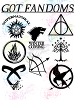 Got Fandoms - Symbols - Multi Fandom - Digital Print, SVG, PNG, JPG Files